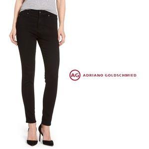 "AG ""The Farrah"" High Rise Skinny Ankle Black Jeans"